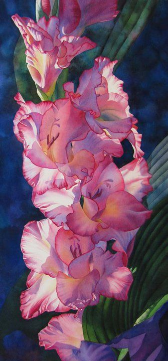 Barbara Fox | American watercolor painter...lost in the beauty of these glads