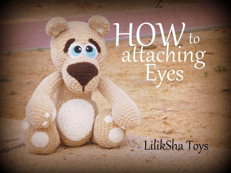 Amigurumi bear pattern - How to sew the Eyes of Amigurumi Teddy Bear.