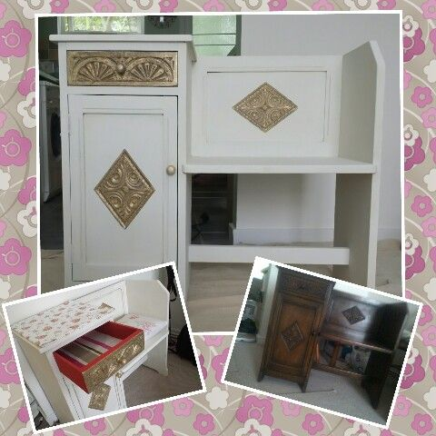 My DIY furniture painting project #3 using chalk and acrylic paints