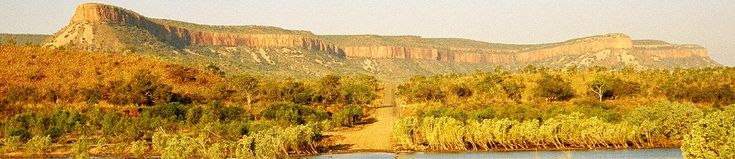 Cockburn Ranges from Gibb River Rd at Pentecost River Kimberley outback Australia tour