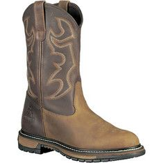 """Make a statement with these Rocky - 11"""" Branson Roper 6732 (Men's) - Aztec Crazy Horse/Bridle Brown Leather"""