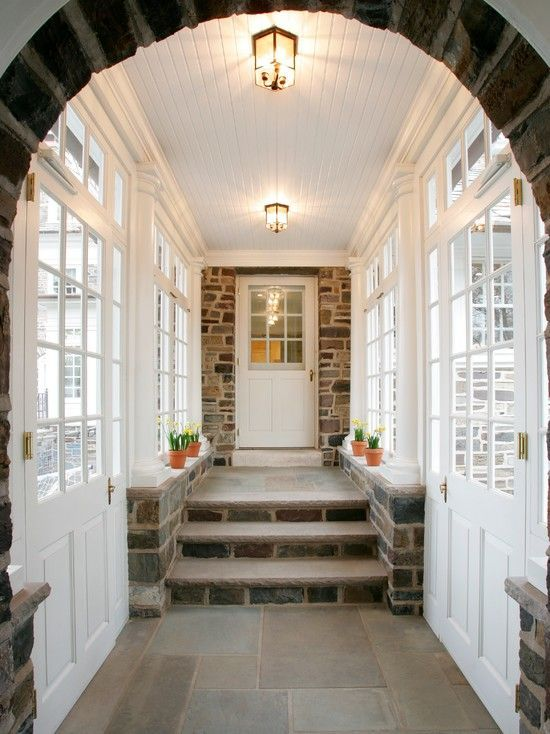 12 best covered walkways images on pinterest for Mudroom addition plans