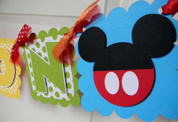 Mickey Mouse Clubhouse Birthday Party - Name Banner