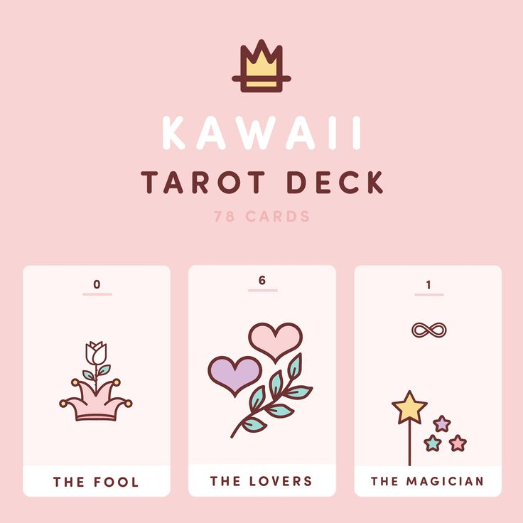 Kawaii tarot cards for sale.