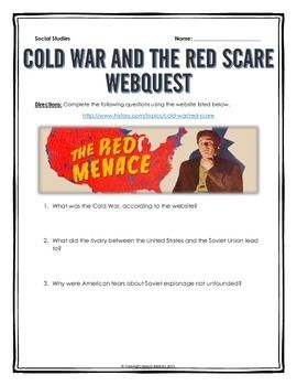 Cold War and the Red Scare - Webquest with Key