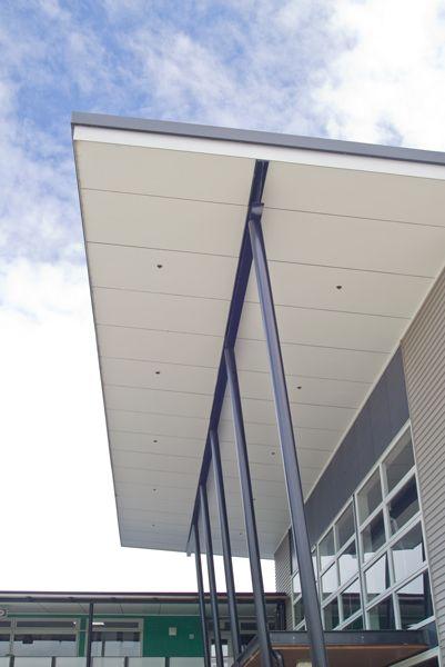 James Hardie's Villaboard® Soffit Lining #soffit #modernexterior #dramaticarchitecture
