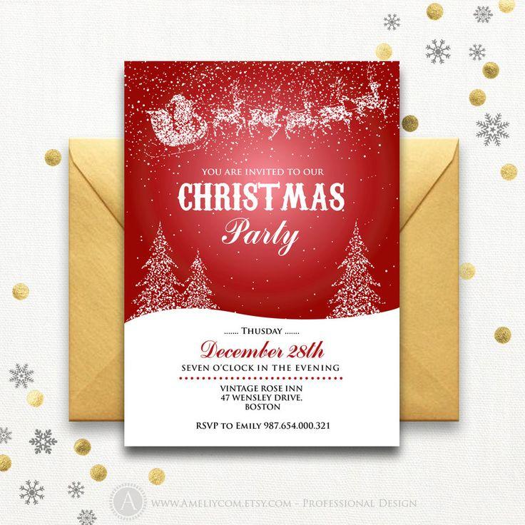 Cele mai bune 25+ de idei despre Christmas party invitation - blank christmas templates
