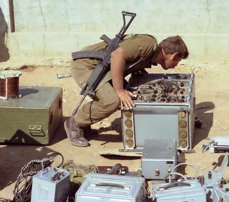 Captured radios during Operation Protea