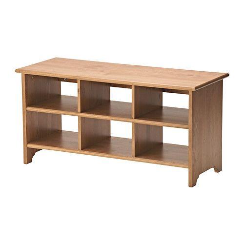 ЛЕКСВИК Полка для обуви IKEA + ТЕЙН Искусственная овечья шкура = скамья в конце кровати