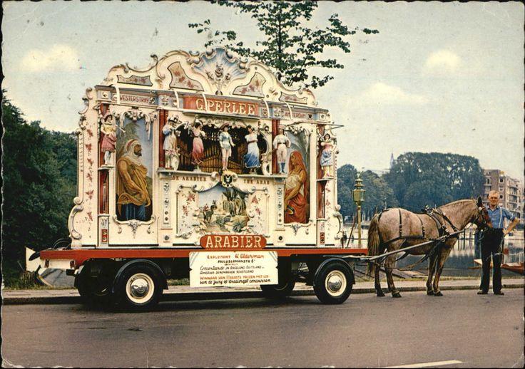 Groningen - draaiorgel De Arabier - poststempel 1968