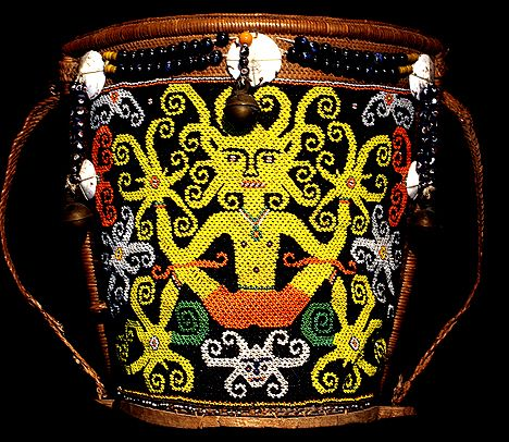 DAYAK TRIBAL ARTIFACT COLLECTION Indonesian head hunters mask shield swords dart quiver coffin human skull headhunting trophy DAYAK TRIBAL ARTIFACT COLLECTION