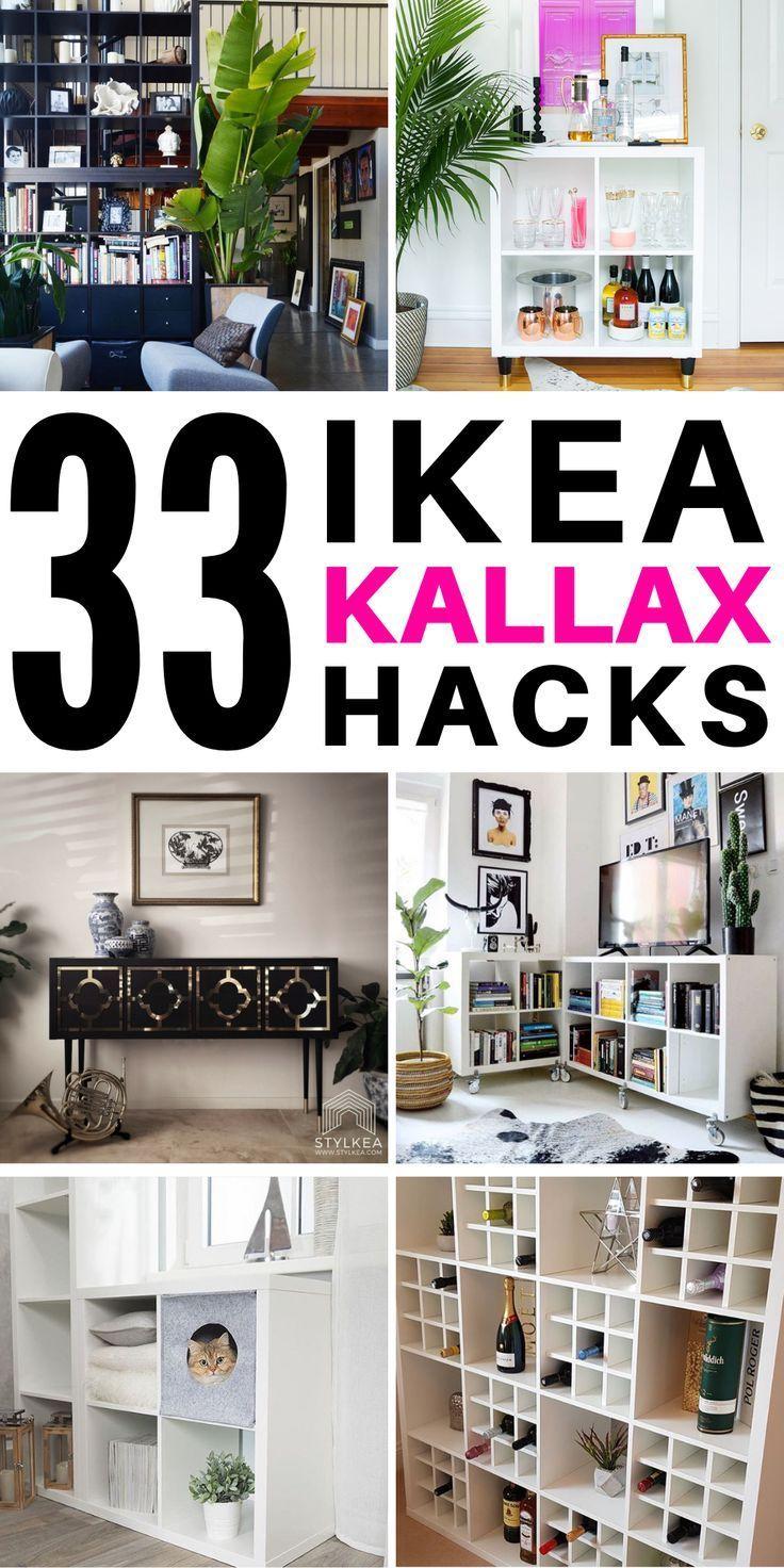 super 33 Atemberaubende Ikea Kallax-Hacks für kleine Budgets