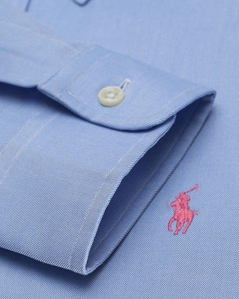 Polo Ralph Lauren - blue shirt, pink logo
