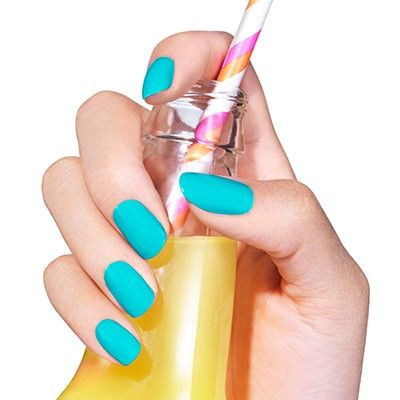 in the cab-ana by essie - sip right up. this aqua azure shade is a refreshing departure from your everyday mani.
