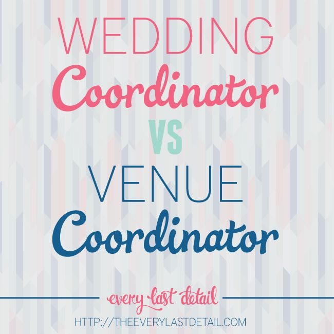 "I've heard it SO many times- ""Oh the venue coordinator will handle everything, I don't need a wedding planner/coordinator."" What most brides don't quite understand is that the venue coordinator is just there for the VENUE, not you. (Nothing against venue coordinators- I love them and they've helped me out a lot before!) If they tell you …"
