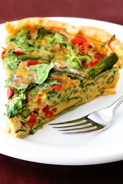 vegetable quiche - crust with avocado instead of butter (the pinner who made it says it's delicious!) - completely dairy free!!