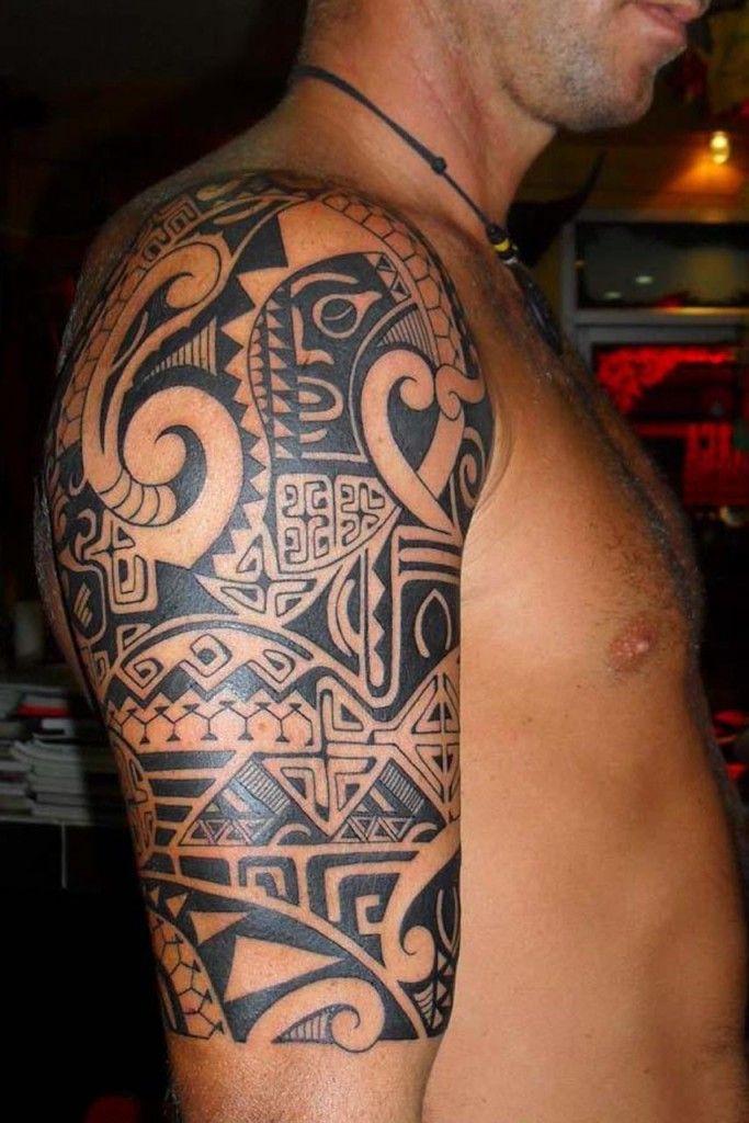 Tribal Half Sleeve Tattoos For Men - http://www.hdtattoodesign.com/tribal-half-sleeve-tattoos-for-men-2/