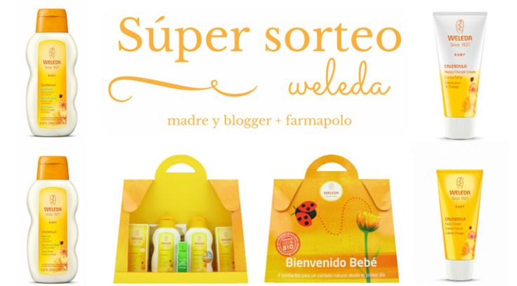 sorteo pack bienvenido bebé weleda madre y blogger y farmapolo