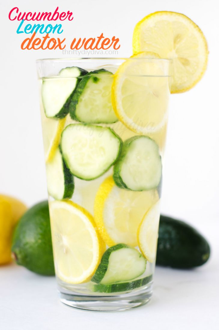 This Cucumber Lemon Detox Water recipe is perfect for cleansing and weight loss, or just as a refreshing drink that's WAY healthier than soda!