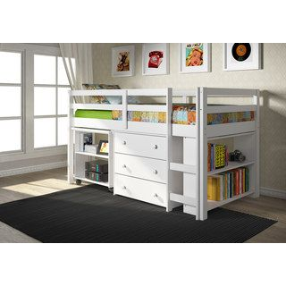 Shop for Donco Kids Low Study Loft Desk Twin Bed with Chest and Bookcase. Get free delivery at Overstock.com - Your Online Furniture Outlet Store! Get 5% in rewards with Club O! - 17882046