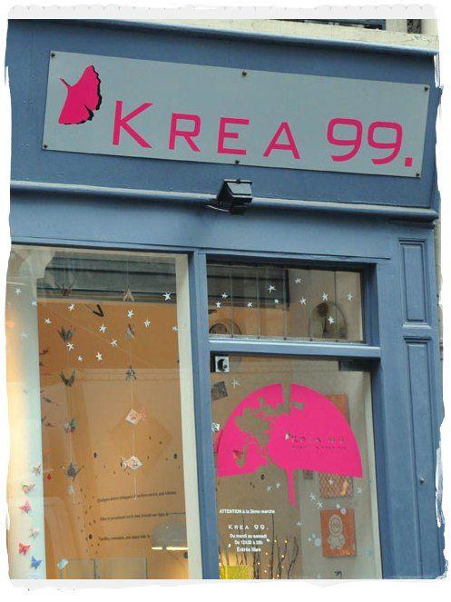 KREA 99,Rue de Dunkerque. Dans cette jolie boutique à deux pas de la butte Montmartre, on observe avec fascination un tas de trouvailles asiatisantes, de créateurs parisiens ou d'éditeurs d'ailleurs. Son hôte, d'origine coréenne, est super accueillant et soigne ses play-lists.