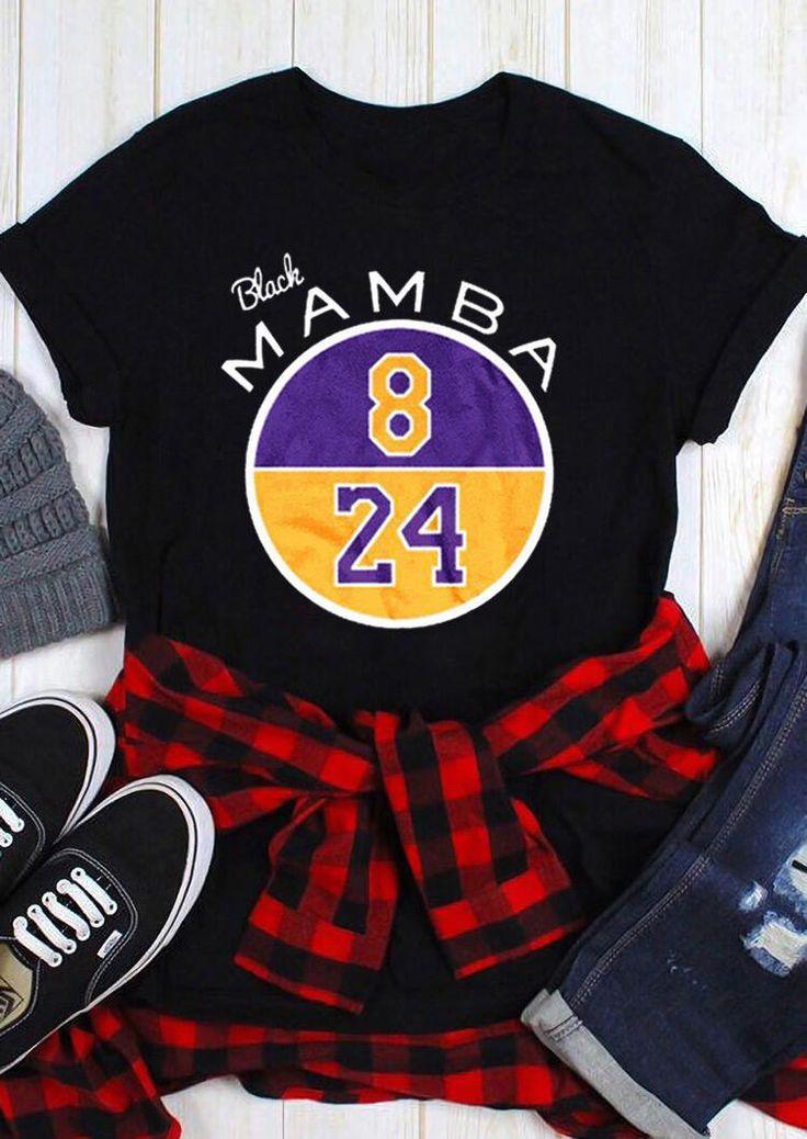 Kobe Black Mamba ONeck TShirt (Presale) in 2020 Kobe