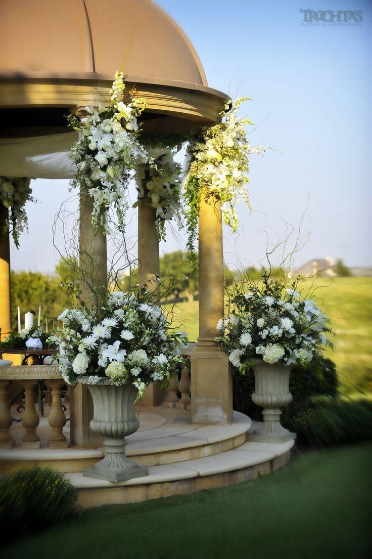 Large White Fl Arrangements Wedding