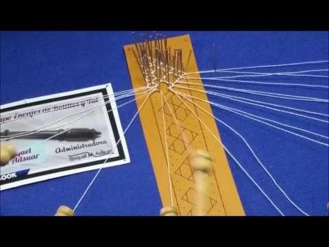 Filigrana. proyecto de aprendizaje. 2° parte. Bolillotutoriales Raquel M. Adsuar - YouTube