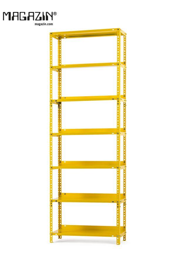 Regal Industrie Zinkgelb Ral 1018 In 2020 Regal Industrie Stahlregal Und Regal