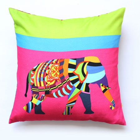 Cushions, QUIRK BOX, Elephant Animal Farm Cushion Cover
