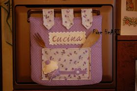 Pure HeART di Francesca Pugliese: Cucito creativo: Copriforno country e shabby-chic