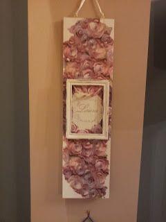 Funky-Junk: Vintage Roses Photo Hanging Plaquette