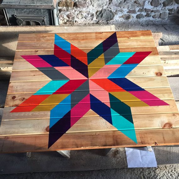 Barn Quilt by GingerbreadKreations on Etsy