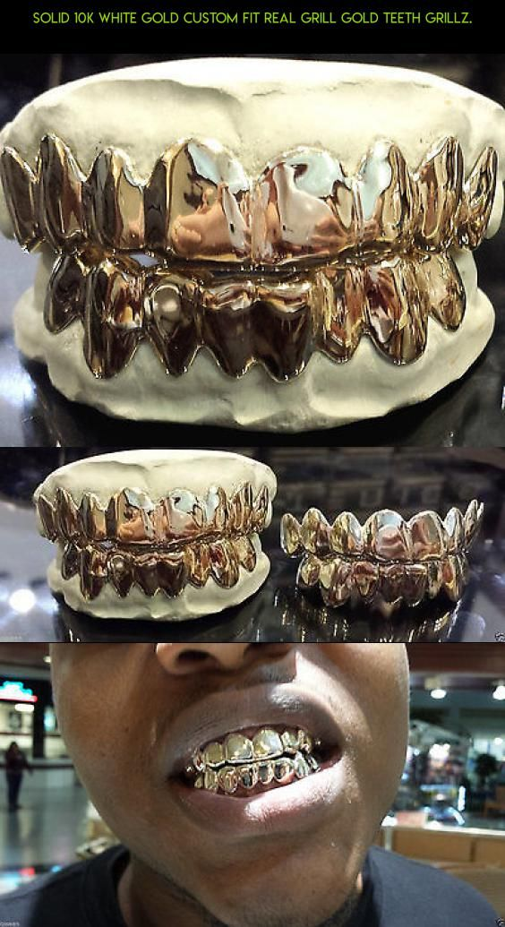 Solid 10K White Gold Custom fit REAL Grill Gold Teeth GRILLZ. #teeth #parts #kit #plans #shopping #camera #fpv #products #grills #racing #technology #tech #drone #gadgets #gold