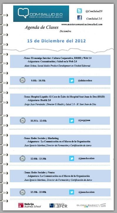 15 de Diciembre -Máster en Comunicación en Salud 2.0 (ComSalud 2.0)