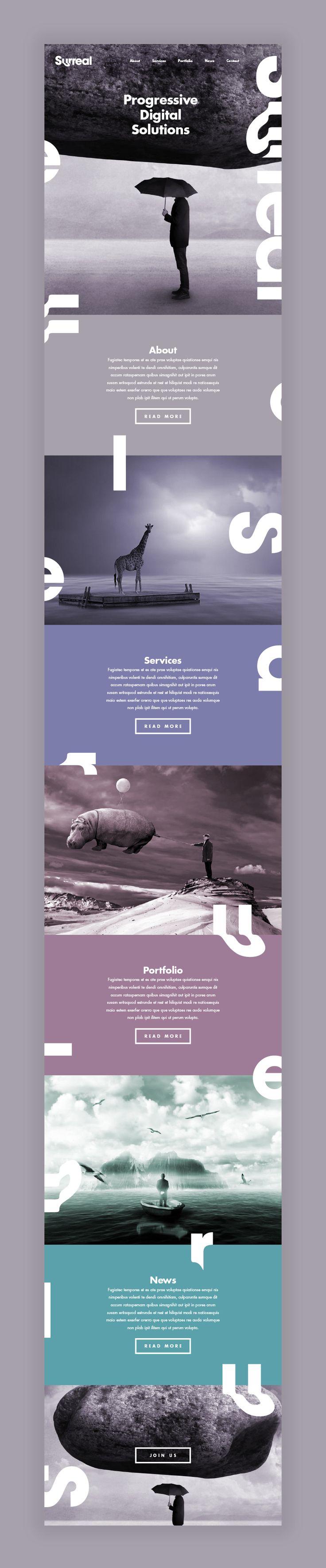 Surreal // Branding on Behance #web #webdesign #design #layout #grid