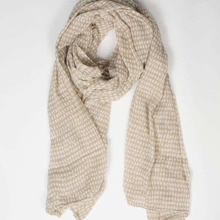 Soft cotton scarf for spring/summer in the perfect neutral