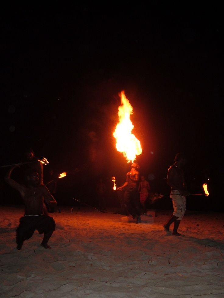 A local group of Fire Dancers came to Erakor Island one night to perform!