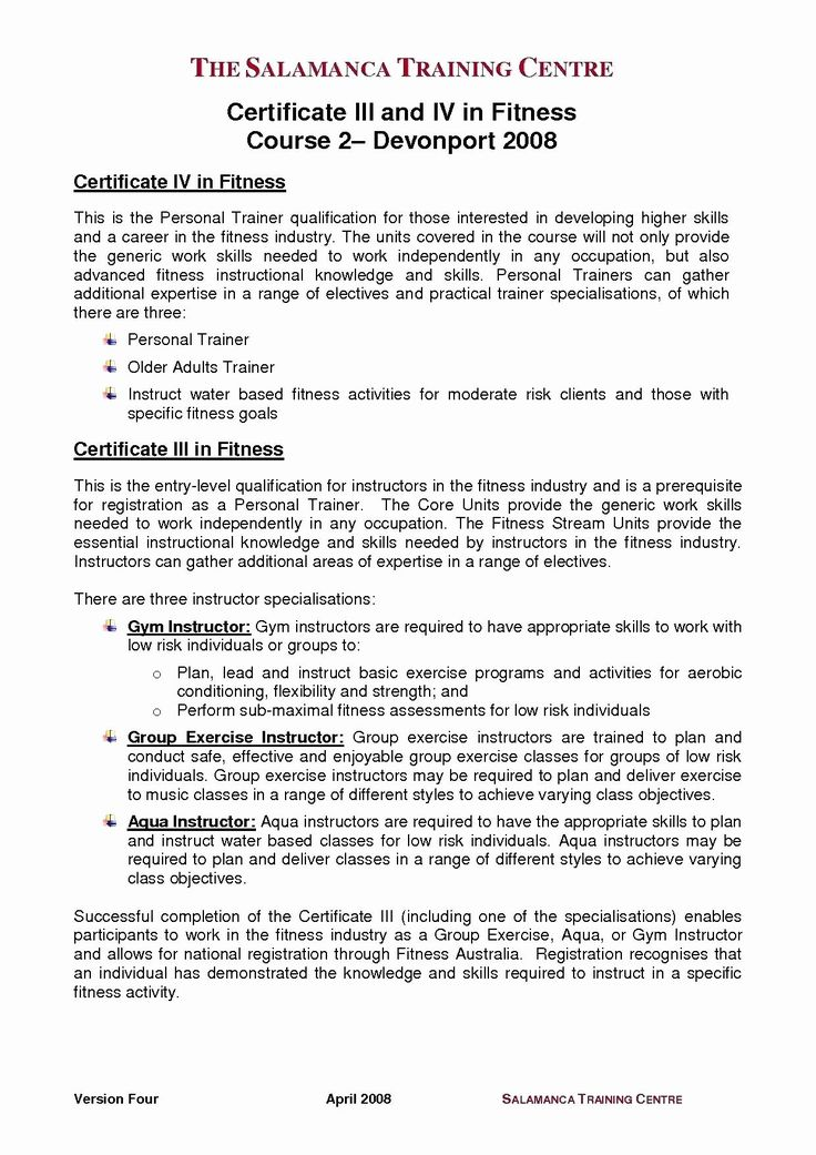 Group Fitness Instructor Resume New 13 Trainer Resume