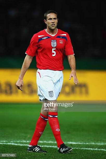 Matthew Upson of England is pictured during the International Friendly match between Germany and England at the Olympic stadium on November 19 2008...