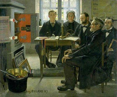 Jean-Eugène Buland: Les Héritiers (1887).