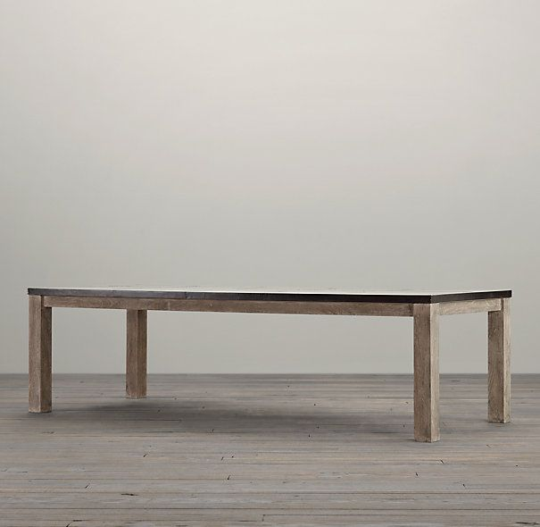 """Railroad Tie Parsons Rectangular Dining Table 84"""" x 42"""""""