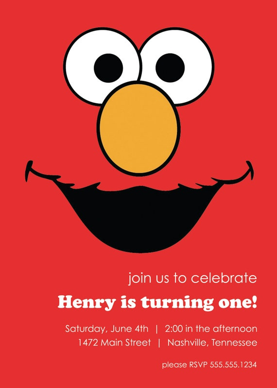 113 best Elmo images – Homemade Elmo Birthday Invitations