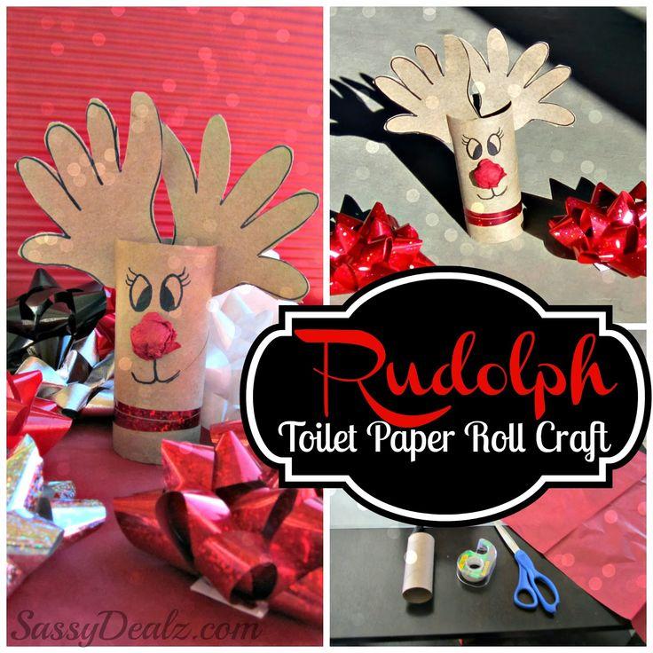 Handprint Reindeer Toilet Paper Roll Craft For Kids (Rudolph at Christmas Time!) | Sassydealz.com