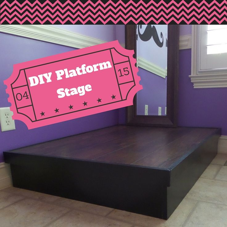 DIY Platform Stage for my daughter, you can use this process to build any platform structure. Take a look!