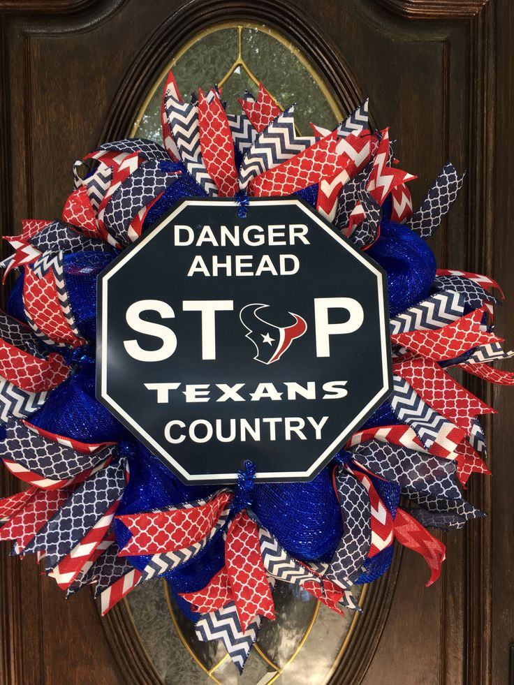 A personal favorite from my Etsy shop https://www.etsy.com/listing/551592779/custom-nfl-wreath-houston-texans-wreath