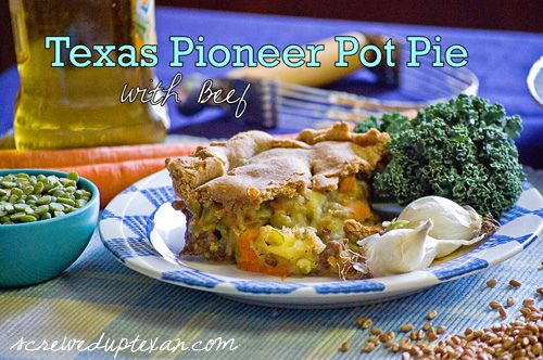 #txbeef #recipe @txbeef Texas Pioneer Pot Pie with Beef! Fuel for the Family (and nutritious too!) screweduptexan.com: Txbeef Texas, Pioneer Pot, Texas Pioneer, Txbeef Recipe, Pie Recipes, Pot Pies, Recipe Txbeef