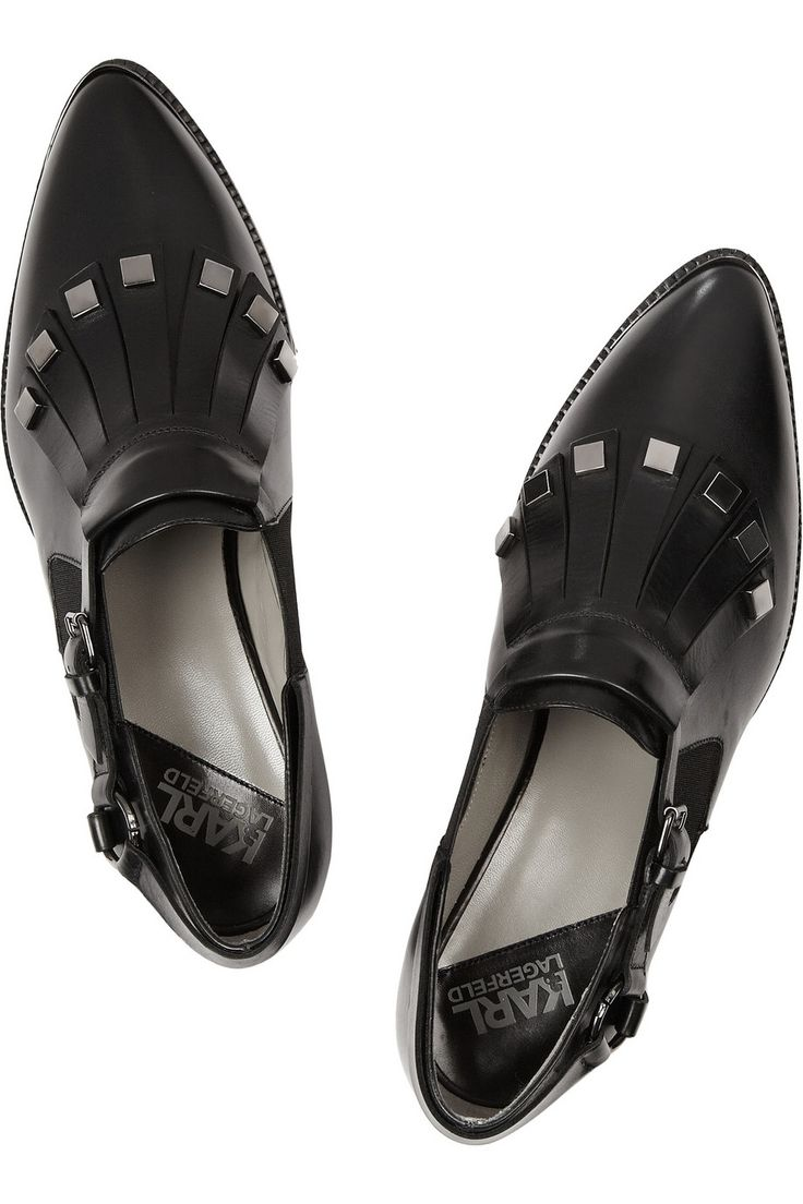 ... gets the perfect shoes (like these Karl Lagerfeld fringed leather brogues) and never checks the price!
