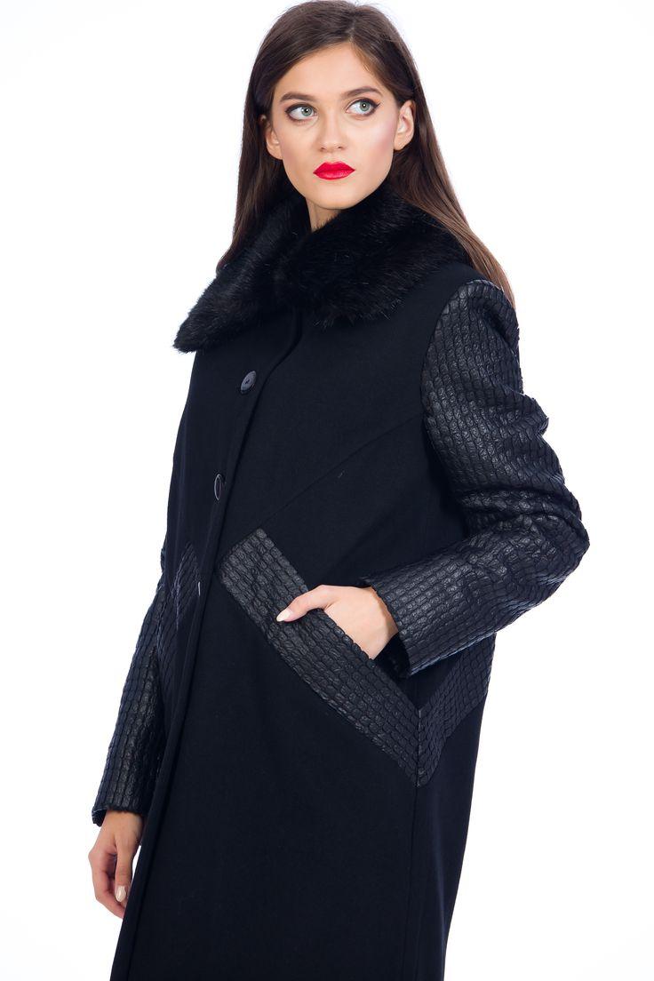 Palton negru/ black coat/ tinute office/ tinute elegante/ paltoane de iarna/ haine de iarna