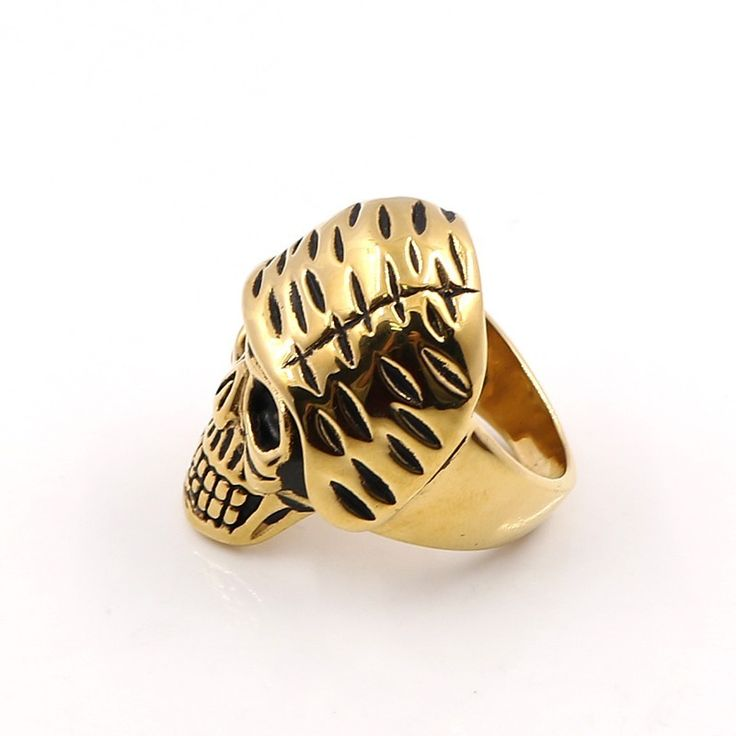 Wholesale Skull Ring Stainless Steel Jewelry Punk Gold Rings Wholesale Fashion Stainless Steel Rings Cheap Rings